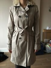 TU Beige Women's Military Style Trench Coat Size 12 Excellent Condition