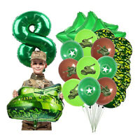 30PC Camouflage Theme Digital Aluminum Foil Balloon Birthday Party Supplies 2021