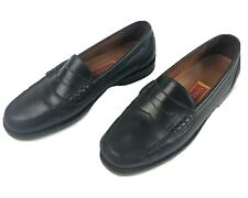 Cole Haan City Black Dress Shoes Size 10 D Penny Loafers Leather Pinch Moc Toe