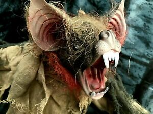 """Vampire Bat Hanging Halloween Party Decoration 24"""" inches Sound and Movement"""