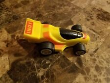 Vintage 1989 Burger King Power Breakers Friction Toy Indy Car hasbro yellow red