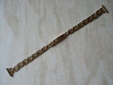 LADYS 9 CARAT SOLID GOLD WATCH BRACELET MADE IN ENGLAND