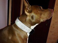 "HUGE 9 row Black Swarovski Crystal Rhinestone Show Dog Collar Fits 17-26"" necks"