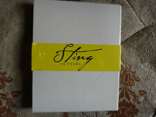 Sting limited edition 25 years best of,3 x cd + 1 x dvd + book,new,rare oop