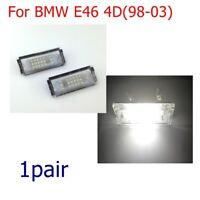 2x Error Free White LED License Plate Lights Lamp For BMW E46 2D 98-03 Brand New