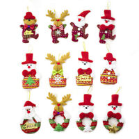 12Pcs Santa Deer Bear Snowman Xmas Tree Hanging Ornaments Home Party Decoration