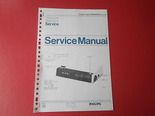 Philips Clock radio 90RS250 org. Service Anleitung Manual