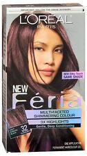 LOreal Feria Permanent Haircolor Gel - 32 Midnight Ruby (Warmer) 1 Each 2pk
