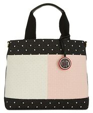 Tommy Hilfiger Flag Bandana Navy Blue Pink White Tote Bag Handbag NWT