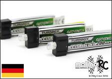 3x Turnigy nano-tech 200mah 1S 35~70C Lipo Akku 3,7V - 200mah !!! Pico Stecker