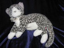 480e1cd7393 2002 TY Beanie Buddies Babies Plush Kitty Cat Gray Silver Leopard Tabby PURR  10