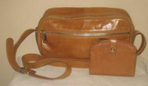 HOBO Set Shoulder Bag and Matching Wallet in Honey Tan *Pre-owned Mint Condition