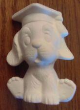 graduate dog ready to paint ceramic bisque
