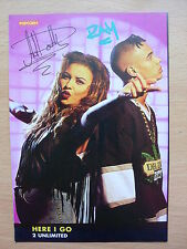 2 UNLIMITED - Here I Go - Lyric Card + Autographs