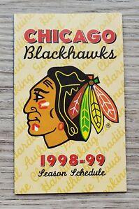 1998-99 Chicago Blackhawks Season Pocket Schedule