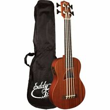 New Eddy Finn EF-EBASS Acoustic Electric Bass Ukulele with Gig Bag, Natural