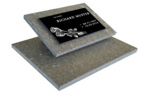 Grabstein, Urnengrabstein Grabmal inkl Inschrift und Motiv mit zwei Granitplatte