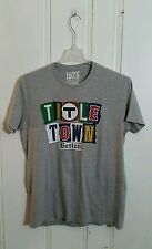 BOSTON BRUINS PATRIOTS CELTICS AND RED SOX TEE TITLE TOWN LARGE GRAY S/S