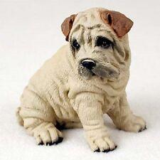 Shar-Pei Dog Hand Painted resin Figurine Statue Cream Shar Pei Puppy Animal New