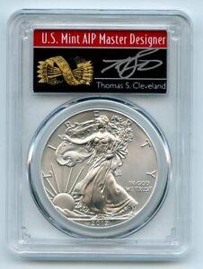 2012 $1 American Silver Eagle Dollar 1oz PCGS MS70 Thomas Cleveland Arrows