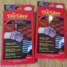 2 X Ove Glove OVEN GLOVE Oven Kitchen Glove - Up To 540 Deg - Washable - Count 2