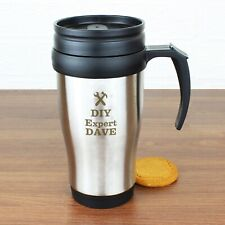 Personalised Man At Work Travel Mug Birthday Christmas Fathers Day Groom Gifts