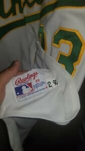 1990 JOSE CANSECO OAKLAND ATHLETICS  JERSEY AUTOGRAPHED RARE RAWLINGS