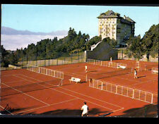 FONT-ROMEU (66) TERRAIN DE TENNIS animé au GRAND HOTEL en 1984