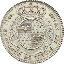 O3748 Jeton Louis XV Etats Bretagne Rennes 1748 Argent Silver SPLENDIDE