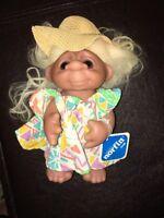 Norfin Troll Doll 1977 Thomas Dam Beach Made in Denmark Original clothes & tag