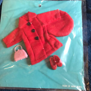Vintage Skipper Outfit Clothes Sew Card New Old Stock Hong Kong - Red Coat