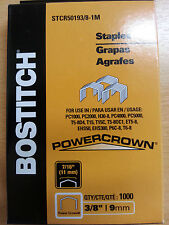 1,000 Stanley Bostitch STCR5019 3/8 9mm Staples