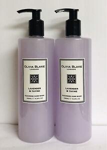 2 Bottles Olivia Blake ~ Lavender & Thyme Cleansing Hand Wash 16.9 fl oz Each