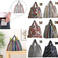Reusable Foldable Ladies Shopping Bag Eco Floral Tote Handbag Fold Away Bag Hot