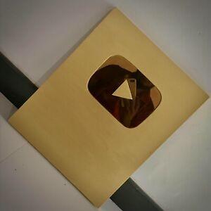 YouTube Gold Play Button   Handmade   YouTube Creator Awards   New