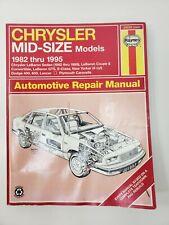 1995 Chrysler Lebaron Convertible Owners Manual User Guide Operator Book Fuses
