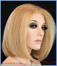 BIG WAVE BOB RTW Lace Front Wig,  Color CARAMEL BLOND 16R  HEAT OK BWB376 SS