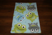 New Frog Blue Green Fleece Dog Cat Pet Carrier Crate Blanket Pad Free S/H! Bcr