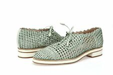 Stuart Weitzman Womens Light Green Leather Perforated Lace Up Oxfords Size 9 M