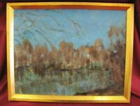 VINTAGE RUSSIAN OIL PAINTING ON CANVAS - LANDSCAPE