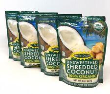 4-Pk Let's Do Organic Unsweetened Shredded Coconut 8 oz Gluten Free Paleo Vegan