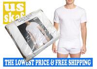 Calvin Klein Men's NWT 3-Pack SLIM WHITE Crew Neck 100% Cotton T-Shirt LARGE