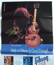 Gibson USA  pin up poster  SLASH and his Les Paul Standard