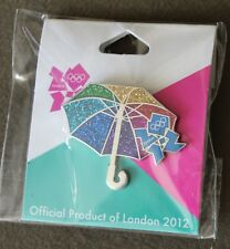Glitter Umbrella Icon Pin London 2012 Olympics Pin NEW