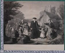c1880 PRINT - THE VILLAGE PASTOR - FRITH & HOLL