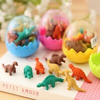 8x Dinosaurs Egg Pencil Rubber Eraser Students Office Stationery Toys FO
