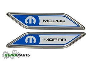 12-16 FIAT 500 500L 500X FENDER EMBLEM BADGE LEFT & RIGHT SET OEM NEW MOPAR