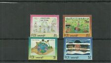 FIJI SG961-964 50TH ANNIV OF UNICEF CHILDRENS PAINTINGS SET MNH
