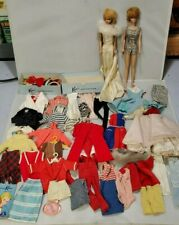 Vintage Barbie Doll Lot: 2 Dolls, Accessories, Clothes Fashion Doll Case, etc.