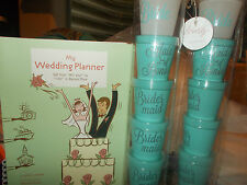 Bachelorette Bridal Bride Shot Stack Maid of Honor 5 glass set Icing + PLANNER!